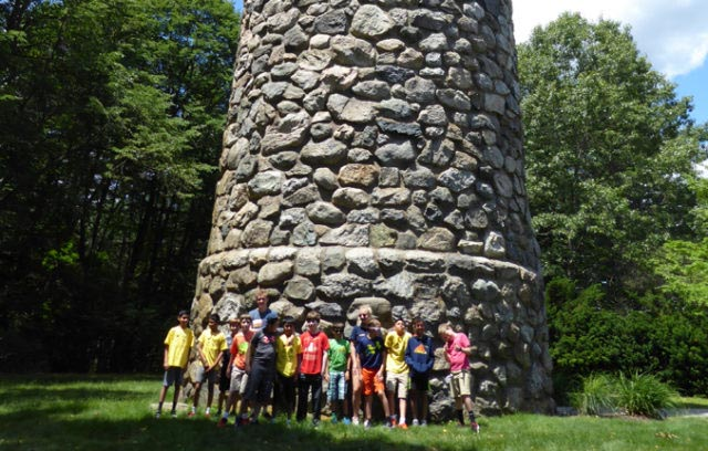 Base of stone tower