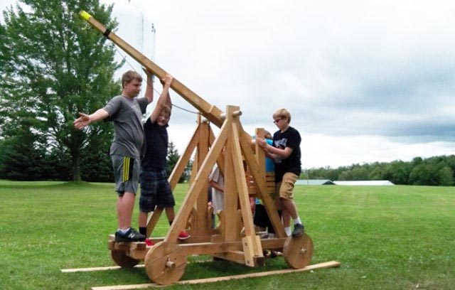 Trebuchet is ready for testing